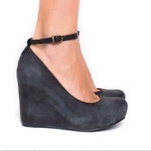 Jeffrey Campbell Adelaide leather wedge heels